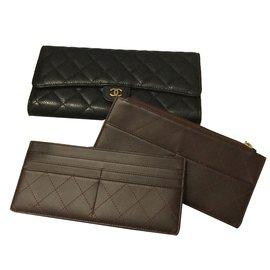 Chanel-Pochette main ou portefeuille-Noir