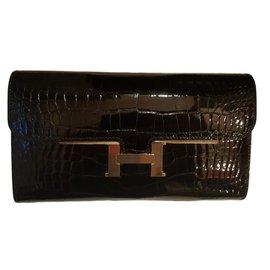Hermès-Constance Alligator-Noir