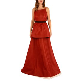 Maison Martin Margiela-sleeveless princess dress-Red