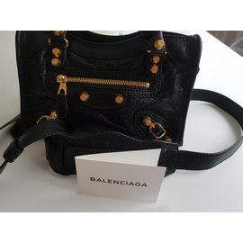 Balenciaga-City Mini-Noir
