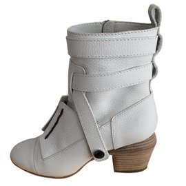 Fendi-Ankle boots-White