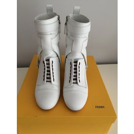 Fendi-bottines-Blanc