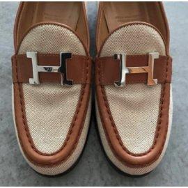 Hermès-Mocassins Vintage-Beige
