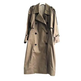Céline-Oversized Khaki Trench Coat-Beige