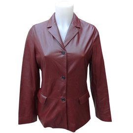Burberry-Jackets-Dark red