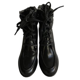 Moncler-Ankle boots-Black