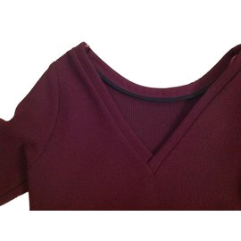 Comptoir Des Cotonniers-Dresses-Dark red