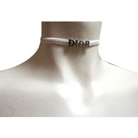 Dior-Colliers-Argenté,Blanc