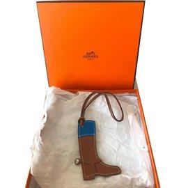 Hermès-Bag charms-Sand