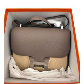 Hermès-Handbags-Grey