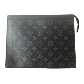Louis Vuitton-Pouch for Men-Black