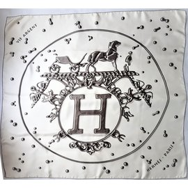 Hermès-Vif argent-Blanc cassé