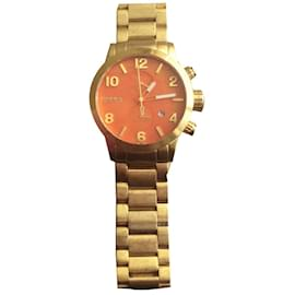 Autre Marque-Brera Orologi gold wristwatch-Red,Golden,Coral