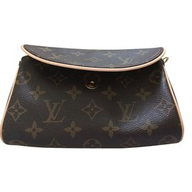 Louis Vuitton-Pochette-Marron,Beige