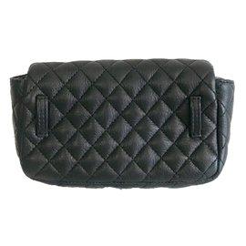 Chanel-Sac pochette-Noir,Argenté