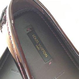Louis Vuitton-Mocassins-Doré,Prune