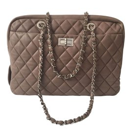 Chanel-Sac à main-Taupe