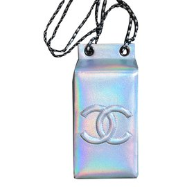 Chanel-small bag-Silvery,Multiple colors,Metallic