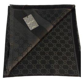 Gucci-monogram chale-Gris anthracite