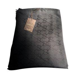 Gucci-Écharpe monogramme-Noir