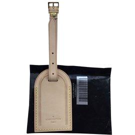 Louis Vuitton-Etiquette de bagage VVN-Beige,Doré