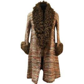 Chanel-fantasy tweed coat-Brown