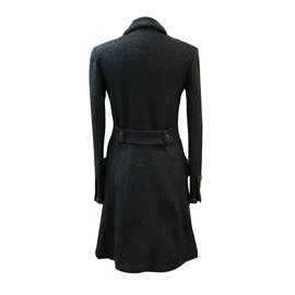 Chanel-Manteau en tweed fantaisie-Bleu