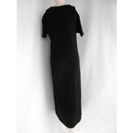 Balmain-Robe à paillettes-Noir