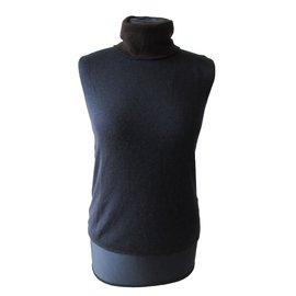 Hermès-pulls, vests-Blue,Chocolate