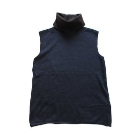 Hermès-Pulls, Gilets-Bleu,Chocolat