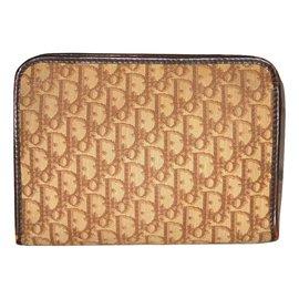 Christian Dior-Vintage pouch-Brown,Beige