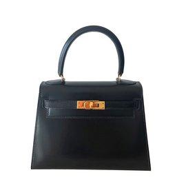 3358cbefc0f8 Hermès-Mini Kelly 20 cm Vintage-Noir ...