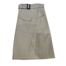 Céline-Wrapped Skirt-Beige