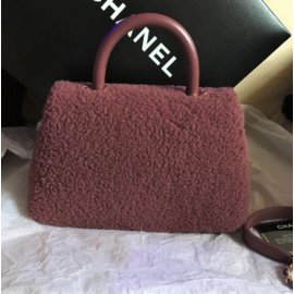 Chanel-Limited Edition Shearling Mini bag-Brown