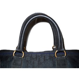 Christian Dior-vintage Boston 45 voyage Dior oblique-Bleu
