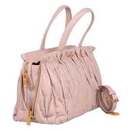 Miu Miu-Miu miu leather bauletto matelasse bag-Pink ... 9a611b9323
