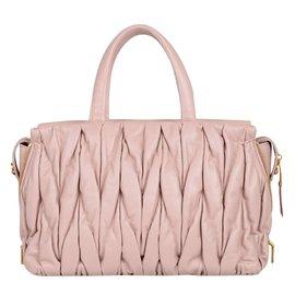 ... Miu Miu-Miu miu leather bauletto matelasse bag-Pink 49fa956906
