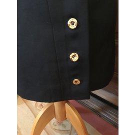 Chanel-Straight skirt-Navy blue