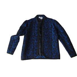Balenciaga-Blazer Jacket Dressed + Top Coordonné-Black,Blue