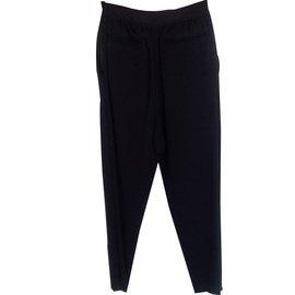 Céline-Pants-Black,Navy blue