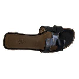Hermès-sandals-Black