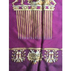 Hermès-Les Cavaliers d'or-Bordeaux,Violet