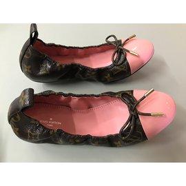 Louis Vuitton-ballerines-Marron