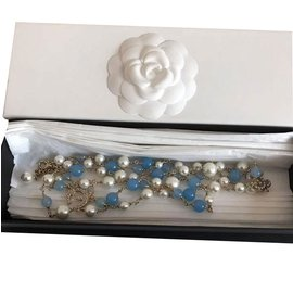 Chanel-Necklaces-Light blue