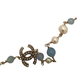 Chanel-Necklaces-Light blue