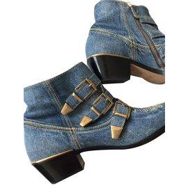 Chloé-Chloe Susanna denim spijker boots-Blue