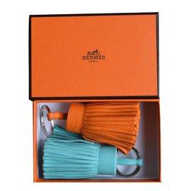 Hermès-Porte-clés Carmen-Orange