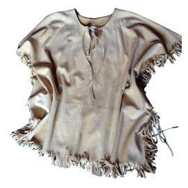 Hermès-Poncho western-Beige