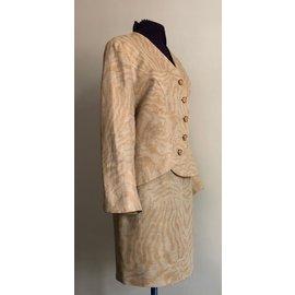 Autre Marque-tailleur Francesco Ferri 36+ 38/40 lin beige-Beige