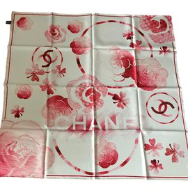 Chanel-Silk scarf-Red